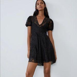 Zara NWT Black Lace Dress